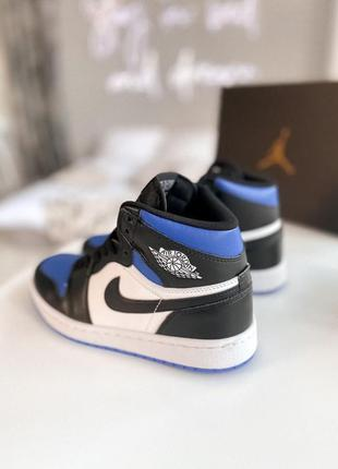 Кроссовки nike jordan 1 retro high black/blue