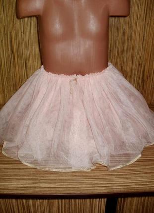 Пышная фатиновая юбка 3-4 года