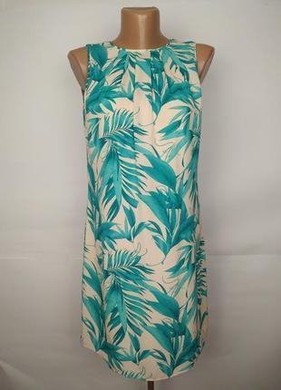 Маленькое платье новое в тропический принт с вырезом на спине ...
