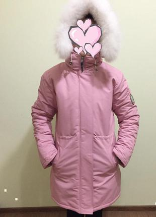 Зимняя куртка, овчина, парка dasti.