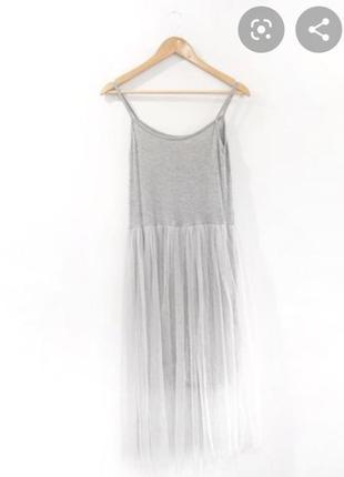 Платье с фатином от topshop