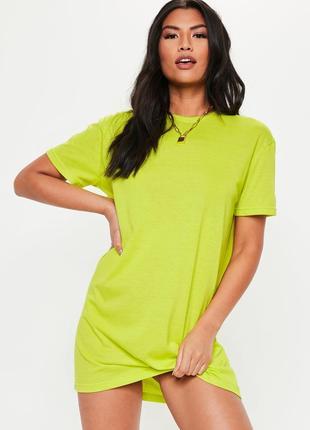 Missguided. товар из англии. неоновое платье футболка в стиле ...