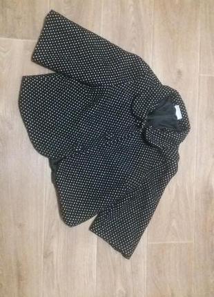 Пальто болеро в горошек  шикарное