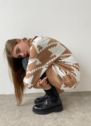 Удлинённый свитер под горло туника длинный свитерок