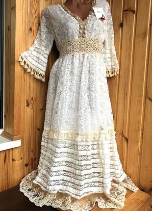 Шикарное гипюровое платье  италия💕