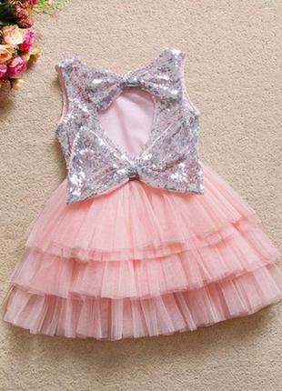 Платье нарядное паетки пачка блестящее