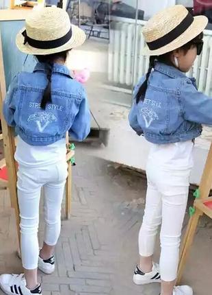 Джинсовка джинсовая куртка укороченная крутая для девочки