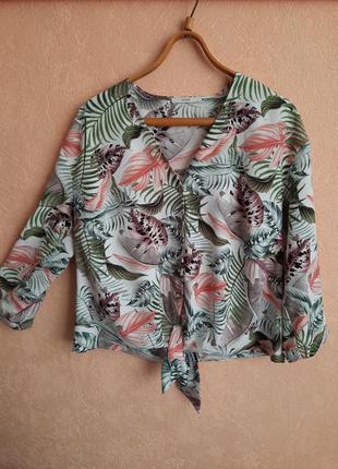 1+1=3 рубашка с тропическим принтом