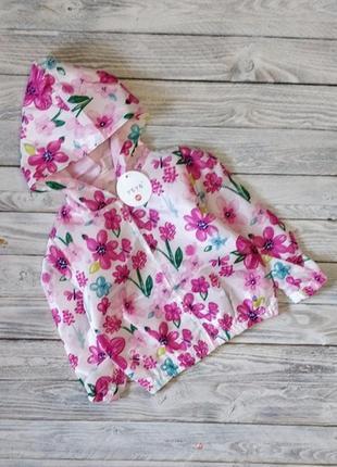 Ветровка весна лето куртка цветы яркая для девочки