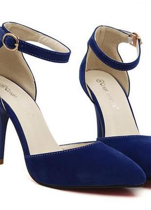 Лодочки босоножки туфли замшевые с ремешком carvela