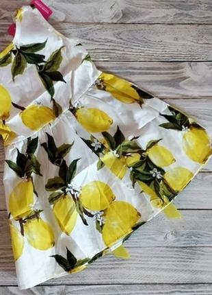 Платье сарафан летнее лёгкое натуральное лимон лимончики