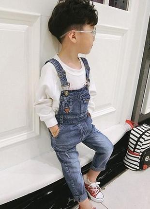 Комбенизон комбез джинсовый модный унисекс