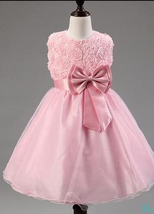 Платье нарядное шикарное розы для принцессы