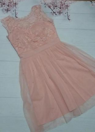 Платье сетка фатин идеальное кружево модное