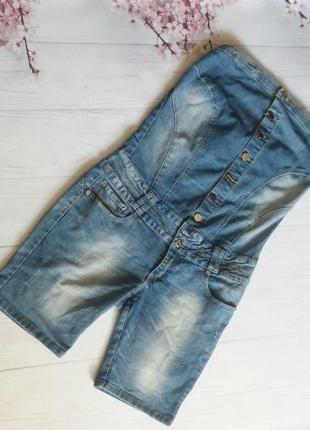 Комбинезон ромпер джинсовый  шорты