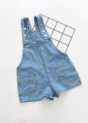 Комбинезон ромпер джинсовый  летний шорты