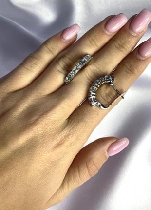 Серебряные серьги silverbreeze с натуральным топазом 3ct...