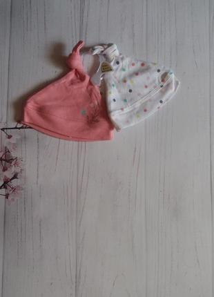 Набор шапочек шапка новые для новорожденного от f&f
