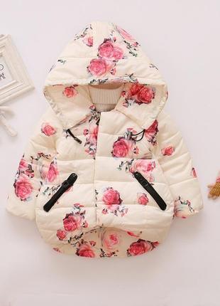 Куртка цветы красивая синтепон