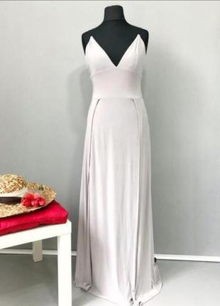 Вечернее платье - боди  в пол с разрезами street edge