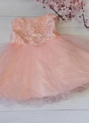 Платье нарядное фатин сетка кружево гипюр