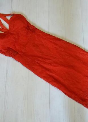 Платье нарядное кружевное  миди переплет шикаоное новое
