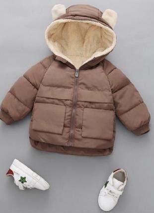 Куртка ушки синтепон меховушка