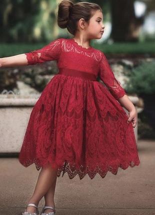 Платье нарядное кружевное модное