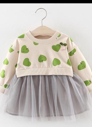 Платье нарядное фатин сетка сердечко