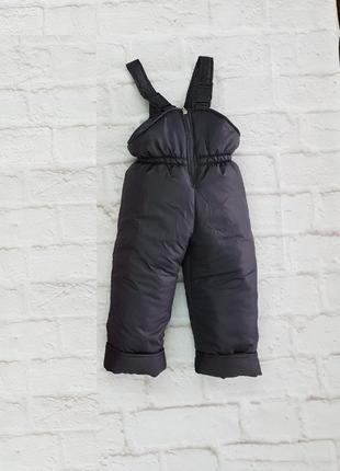 Зимние штаны комбинезон, серый полукомбинезон тёплый. на рост ...