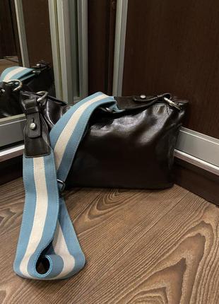 Шикарная мужская сумка кожа bally trussa италия оригинал