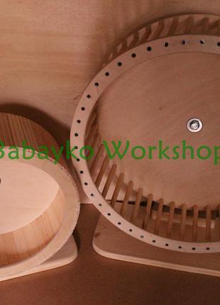 Колесо деревянное беговое для шиншиллы дегу белки ежа хомяка