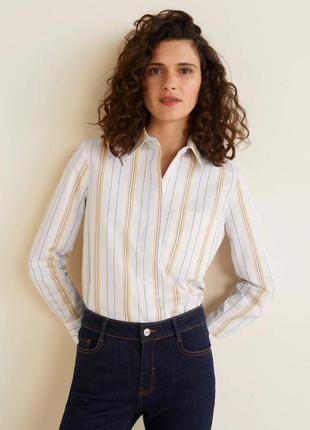 Стильная рубашка mango в полоску.