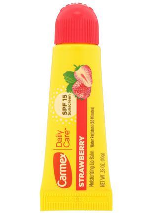 Бальзам для губ Daily Care, клубника, SPF 15, 10 г Carmex, США