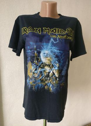 Iron maiden рок мерч футболка атрибутика неформат 2007