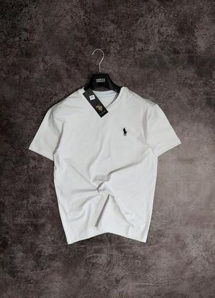 Мужская однотонная футболка polo