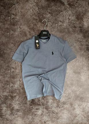 Мужская однотонная футболка коттон