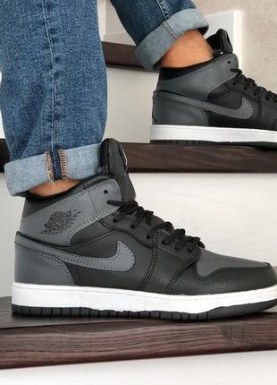 Шикарные мужские зимние кроссовки/ ботинки nike air jordan 1 r...