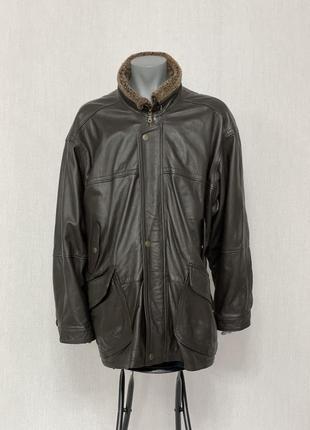 Кожаная куртка длинная pielini