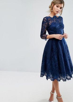 Шикарное вечернее нарядное выпускное платье