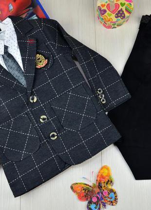 Нарядный костюм тройка, пиджак, рубашка, брюки