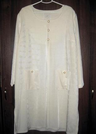 Платье пальто кардиган накидка kirsten krog молочный белый дания