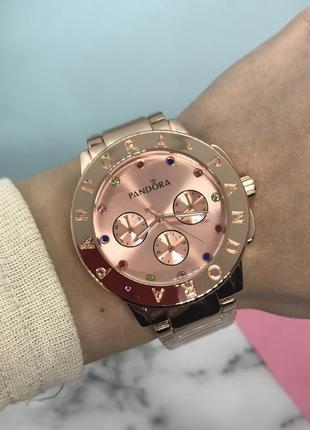 Часы женские в розовом золоте