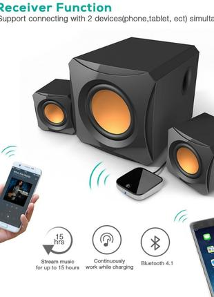 Приемник 1+1 Bluetooth Apt-X Low latency стерео ТВ конвертер DAC