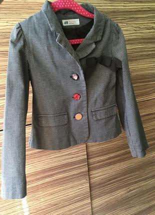 Модный пиджак для девочки , піджак h&m