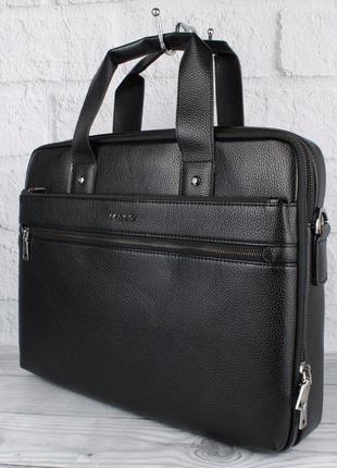 Сумка мужская для документов, портфель blsido 9002-6 черный, 3...