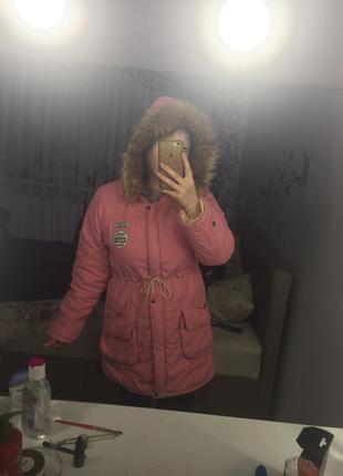 Куртка парка зимняя с мехом