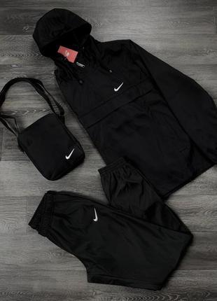 Комплект анорак president черный + штаны president + в подарок...