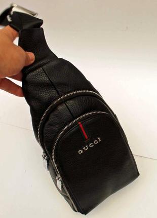 Слинг, кожа, натуральная кожа, мужская сумка, сумка через плечо