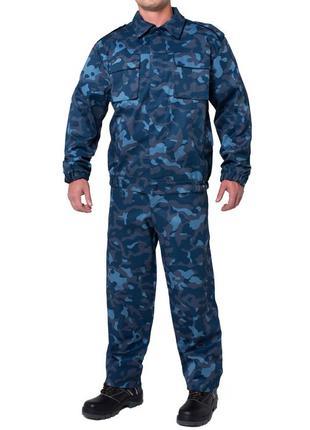 Костюм охранника с брюками цветной камуфляж